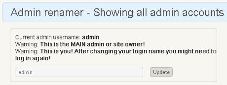 Admin renamer extended